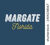 margate  florida t shirt... | Shutterstock .eps vector #1404238067