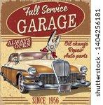 Vintage Garage Retro Poster...
