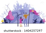man and woman supporting... | Shutterstock .eps vector #1404257297