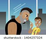 movie scene scared nerd guy in... | Shutterstock .eps vector #1404257324