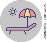sunbathe isolated vector icon... | Shutterstock .eps vector #1404260027