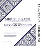 traditional mexican wedding... | Shutterstock .eps vector #1404274481