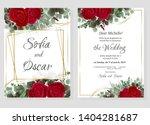 vector template for wedding... | Shutterstock .eps vector #1404281687