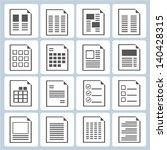 document form set  document...   Shutterstock .eps vector #140428315