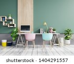 Office Room With A Pastel...