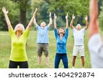 active seniors doing healthy... | Shutterstock . vector #1404292874