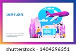 plane is flying in the clouds.... | Shutterstock .eps vector #1404296351