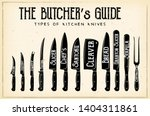 the butcher's guide   type of...   Shutterstock .eps vector #1404311861