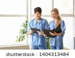 young medical assistants in... | Shutterstock . vector #1404313484