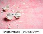 baby shower concept. girl  pink....   Shutterstock . vector #1404319994