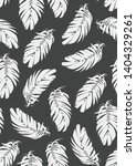 hand drawn natural leaves ... | Shutterstock .eps vector #1404329261