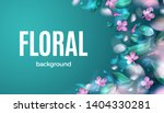 green spring background with... | Shutterstock .eps vector #1404330281