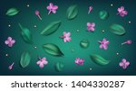green spring background with... | Shutterstock .eps vector #1404330287