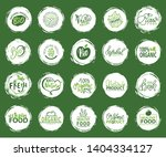 bio food and ingredients vector ... | Shutterstock .eps vector #1404334127