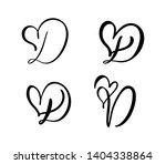 vector set of vintage floral... | Shutterstock .eps vector #1404338864