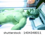 muscular guy lying on his back... | Shutterstock . vector #1404348011