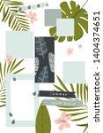summer mood board. poster cards ... | Shutterstock .eps vector #1404374651