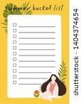 summer bucket list with hand... | Shutterstock .eps vector #1404374654