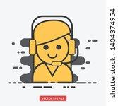 customer support female modern... | Shutterstock .eps vector #1404374954