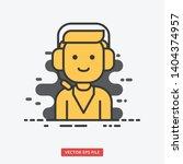 customer support male modern... | Shutterstock .eps vector #1404374957