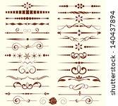set of dividers  ornamental... | Shutterstock .eps vector #140437894