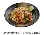 sliced raw salad chicken... | Shutterstock . vector #1404381887