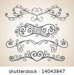 vector ornament in flower style   Shutterstock .eps vector #14043847