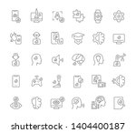 set of vector line icons of...   Shutterstock .eps vector #1404400187