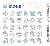 set of vector line icons of... | Shutterstock .eps vector #1404400217