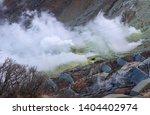 volcanic alert level raised at... | Shutterstock . vector #1404402974