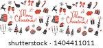 simple christmas illustration... | Shutterstock .eps vector #1404411011