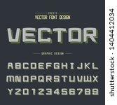line cartoon shadow font and... | Shutterstock .eps vector #1404412034