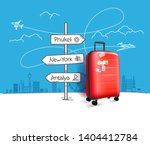 different world city direction... | Shutterstock .eps vector #1404412784