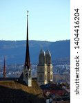 churches with spires in... | Shutterstock . vector #1404416204