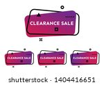 clearance sale. set of four... | Shutterstock .eps vector #1404416651