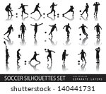 soccer players detailed vector...