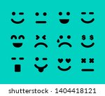 cartoon faces with emotions....   Shutterstock .eps vector #1404418121
