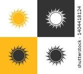 sun icon. set of four sun icon...   Shutterstock .eps vector #1404418124