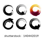 grunge circles for coffee or... | Shutterstock .eps vector #140442019