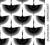 flying bird. swan. seamless... | Shutterstock .eps vector #1404421847