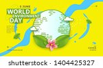 world environment day poster... | Shutterstock .eps vector #1404425327