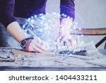 haman brain double exposure...   Shutterstock . vector #1404433211