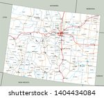 high detailed colorado road map ...   Shutterstock .eps vector #1404434084
