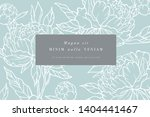 vintage card with peony flowers.... | Shutterstock .eps vector #1404441467