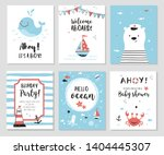 nautical baby shower cards....   Shutterstock .eps vector #1404445307