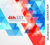 abstract style 4th of july... | Shutterstock .eps vector #140445709