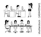 office workers monochrome... | Shutterstock .eps vector #1404459641