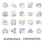 employees benefits line icons.... | Shutterstock .eps vector #1404462554