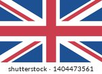 flag of the united kingdom... | Shutterstock .eps vector #1404473561