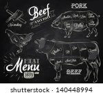 illustration of meat for menu ... | Shutterstock .eps vector #140448994